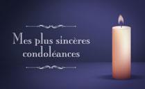 Carte de Condoléances