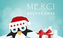 Carte de Merci Noël