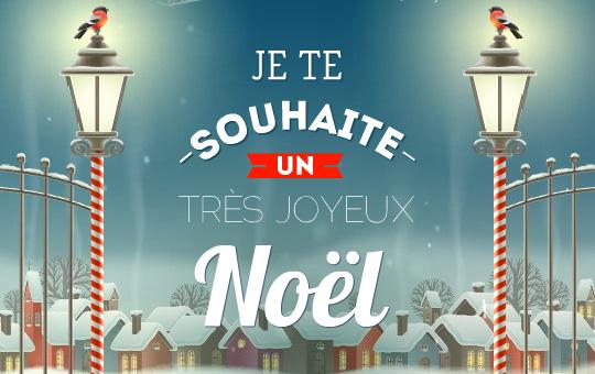 Carte Je Te Souhaite Un Tres Joyeux Noel